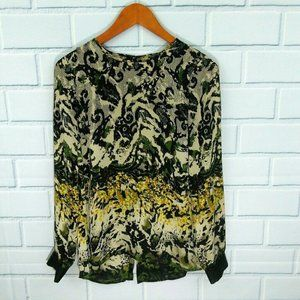 Vince Camuto silky patterned flowy blouse